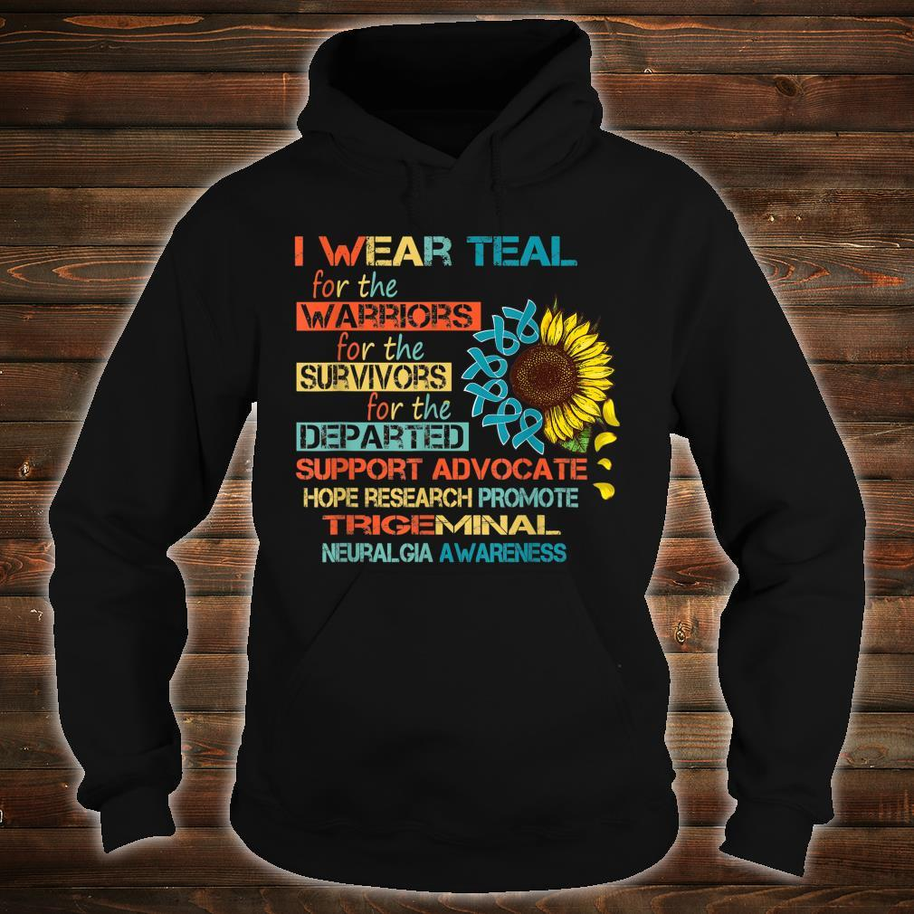 I Wear Teal For The Warriors Awareness Shirt hoodie