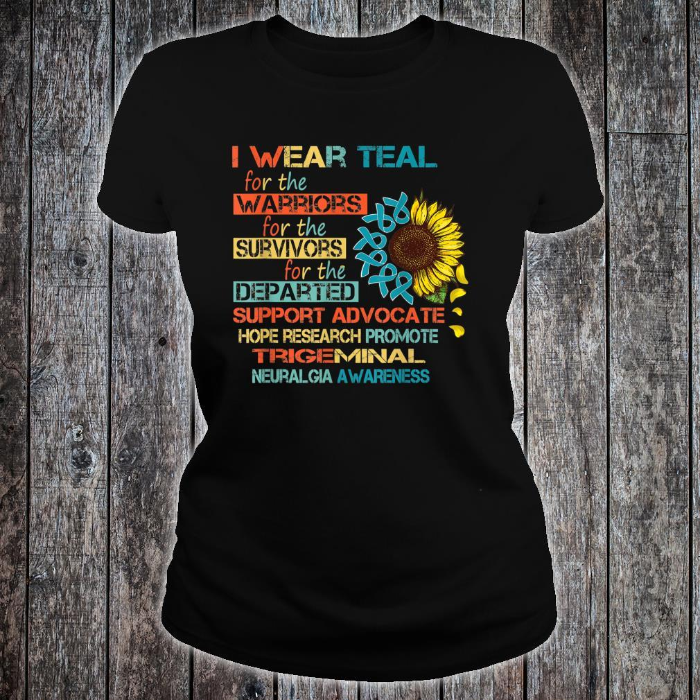 I Wear Teal For The Warriors Awareness Shirt ladies tee