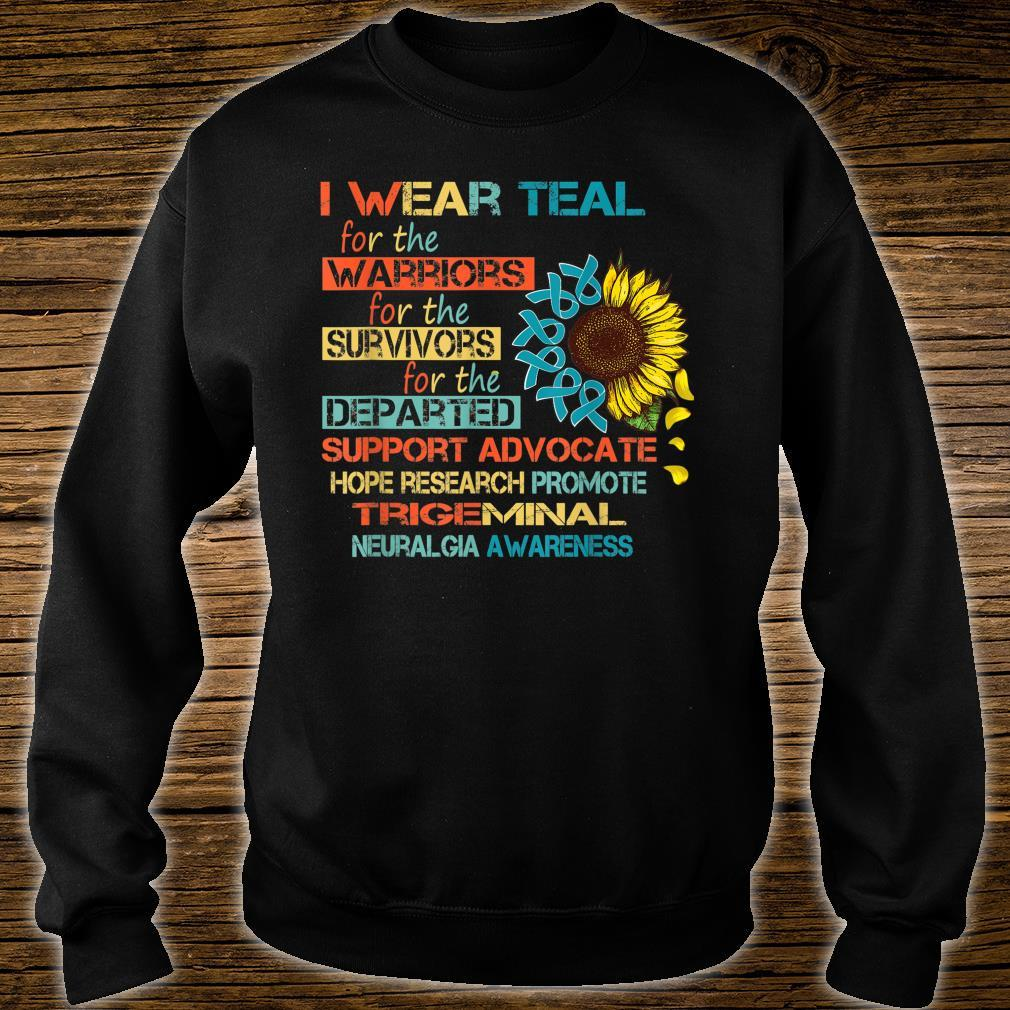 I Wear Teal For The Warriors Awareness Shirt sweater