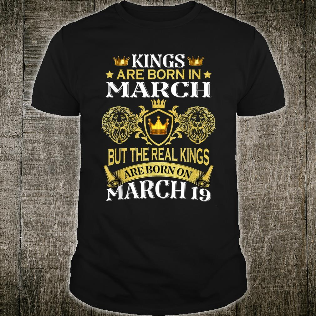 Kings Are Born On March But The Real Kings Shirt