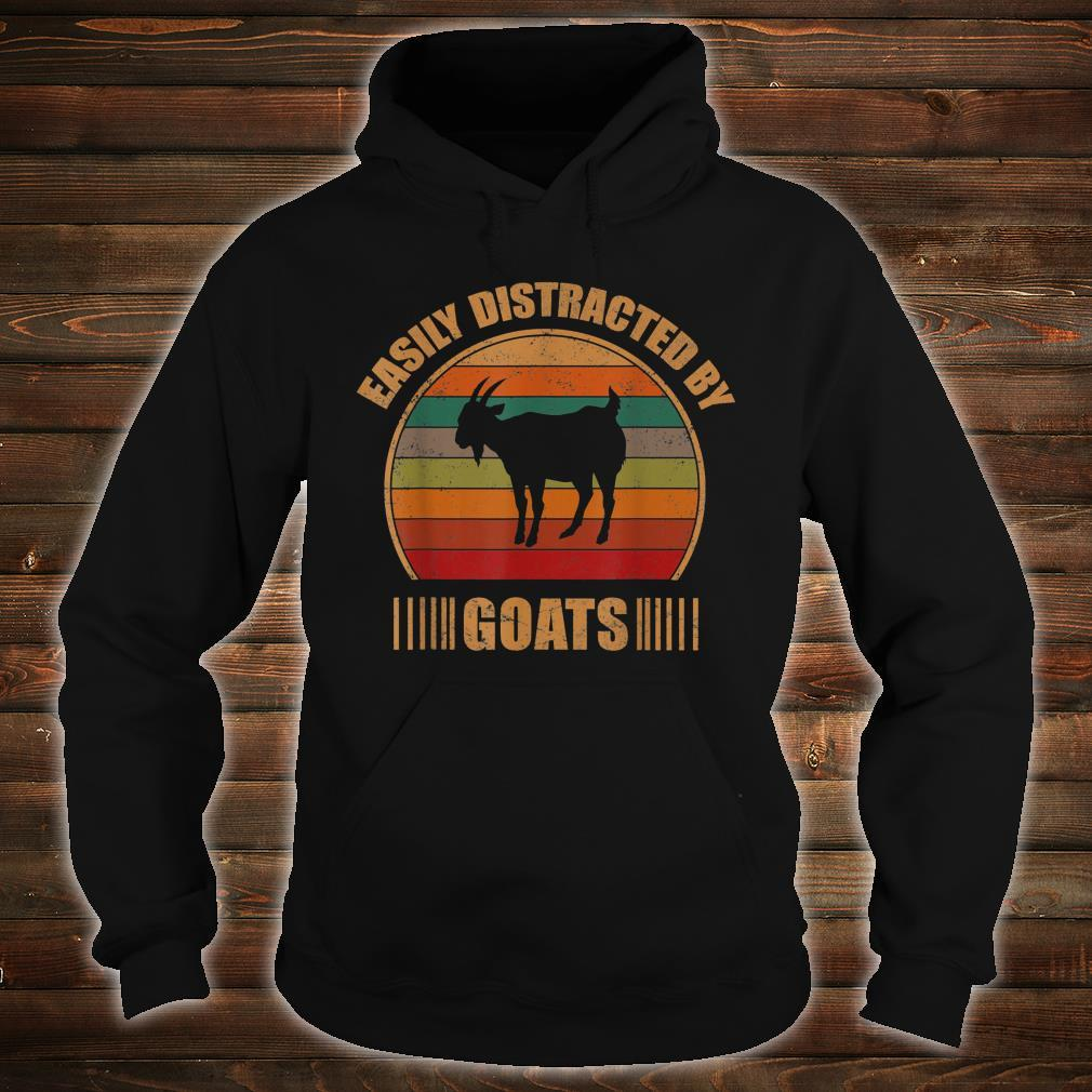 Retro Farmer Goat Easily Distracted By Goats Shirt hoodie