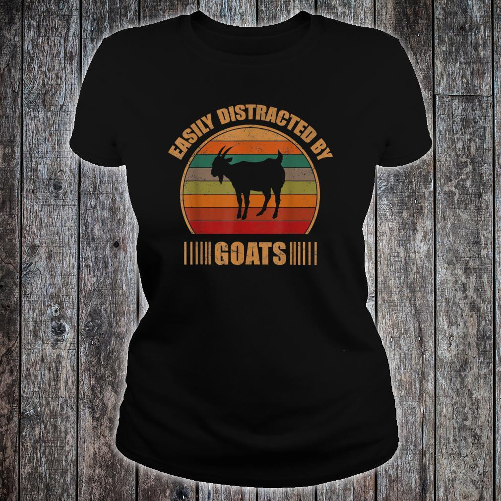 Retro Farmer Goat Easily Distracted By Goats Shirt ladies tee