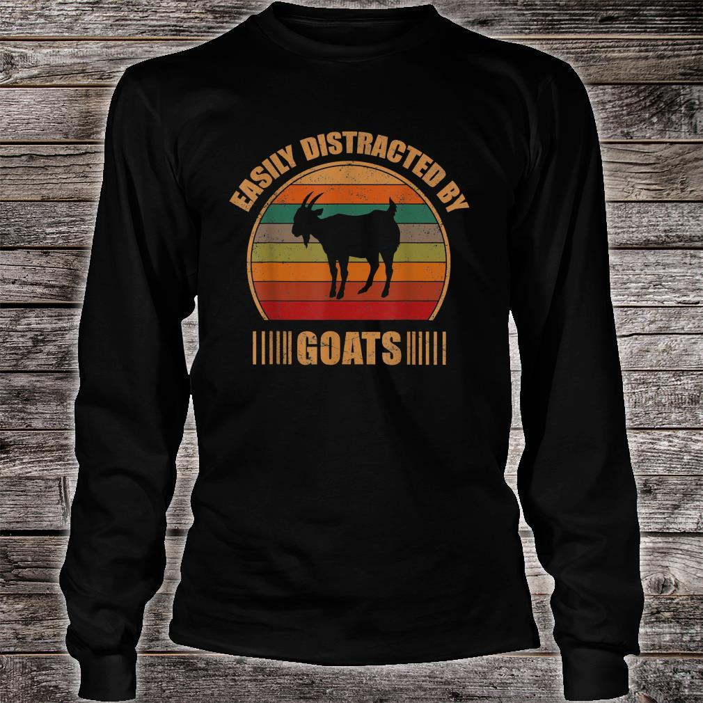 Retro Farmer Goat Easily Distracted By Goats Shirt long sleeved