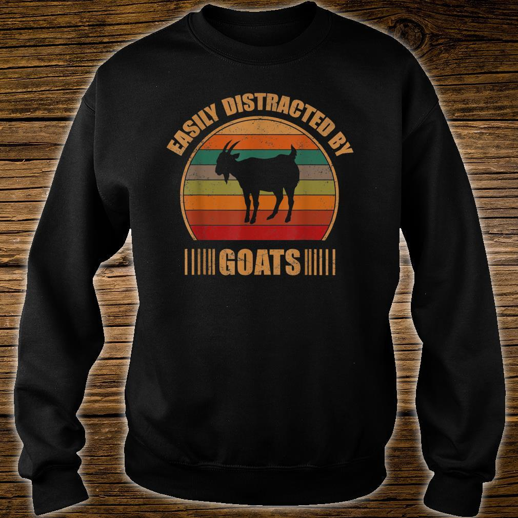 Retro Farmer Goat Easily Distracted By Goats Shirt sweater