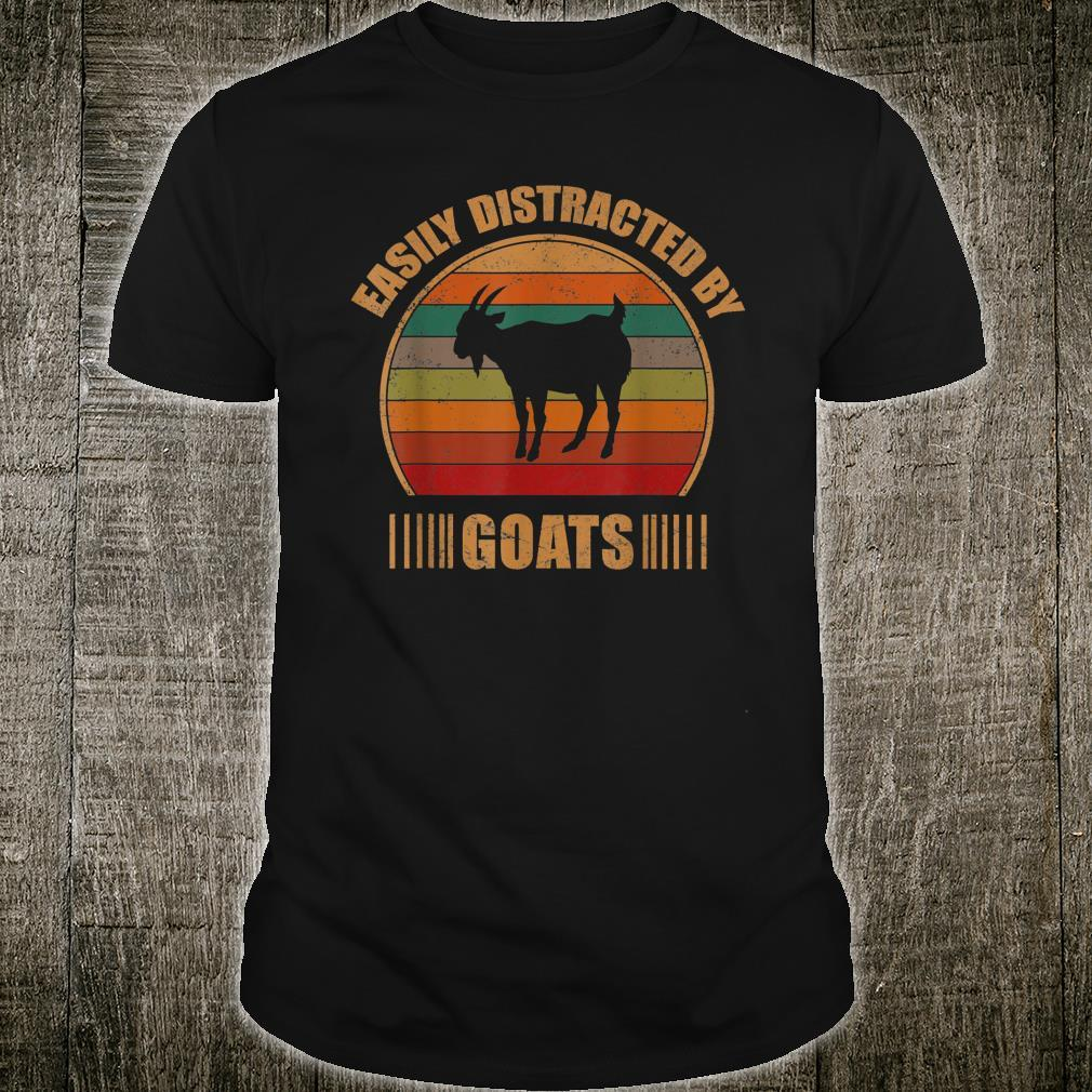 Retro Farmer Goat Easily Distracted By Goats Shirt