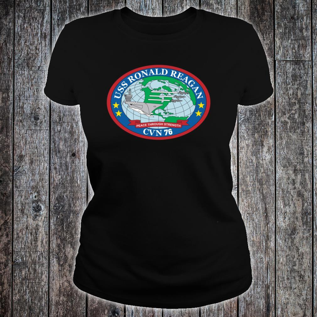 USS Ronald Reagan CVN76 Shirt ladies tee