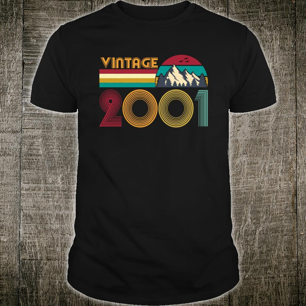 19th Birthday 19 Years Old Retro Vintage 2001 Shirt