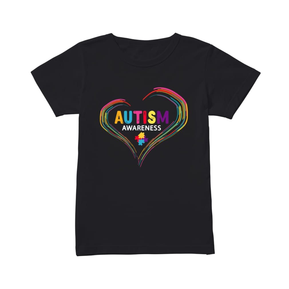 Autism Awareness April World Heart Shirt ladies tee