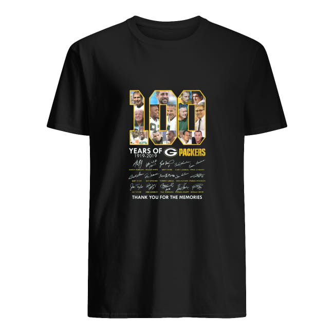 100 years of 1919-2019 g packers thank you for the memories shirt