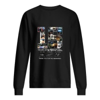 15 years of supernatural thank you for the memories shirt sweater
