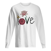 Official Bee And Lotus Flower Love Shirt Hoodie Tank Top And Sweater