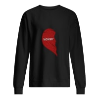 Split heart Mommy daughter shirt sweater