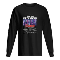 Thank you for the memories avengers 2008-2019 22 movies shirt long sleeved