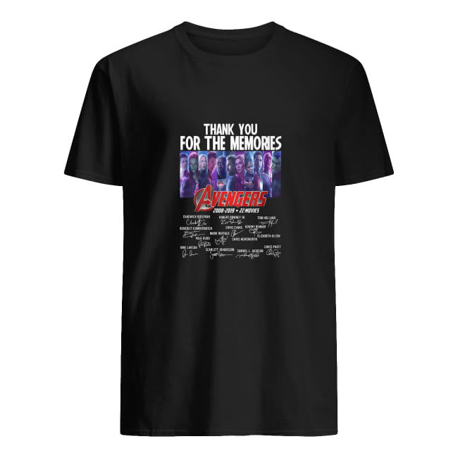 Thank you for the memories avengers 2008-2019 22 movies shirt