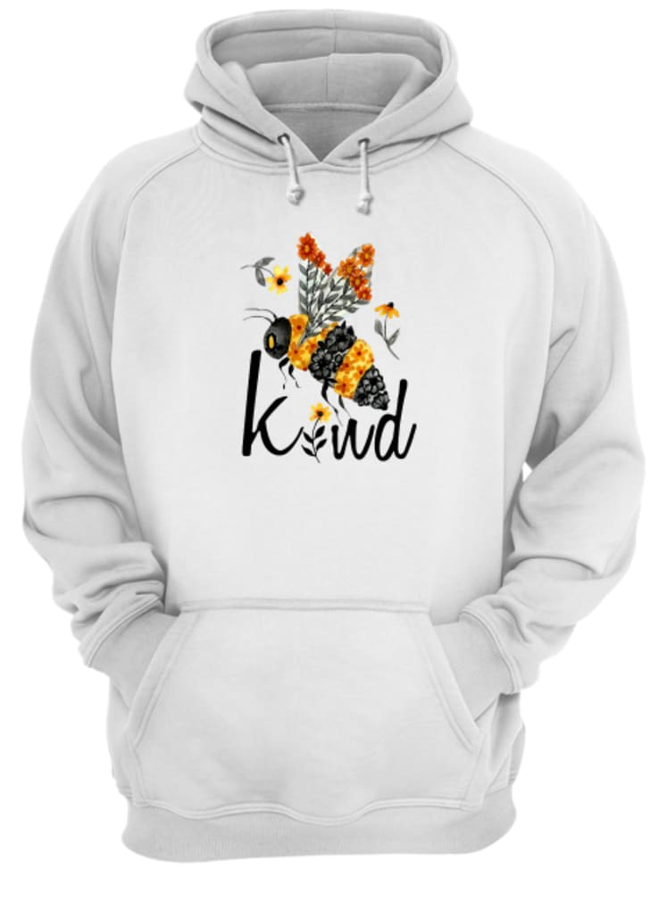 Bee kind with flower shirt hoodie
