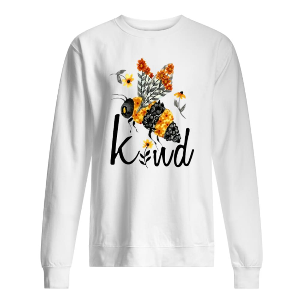 Bee kind with flower shirt sweater