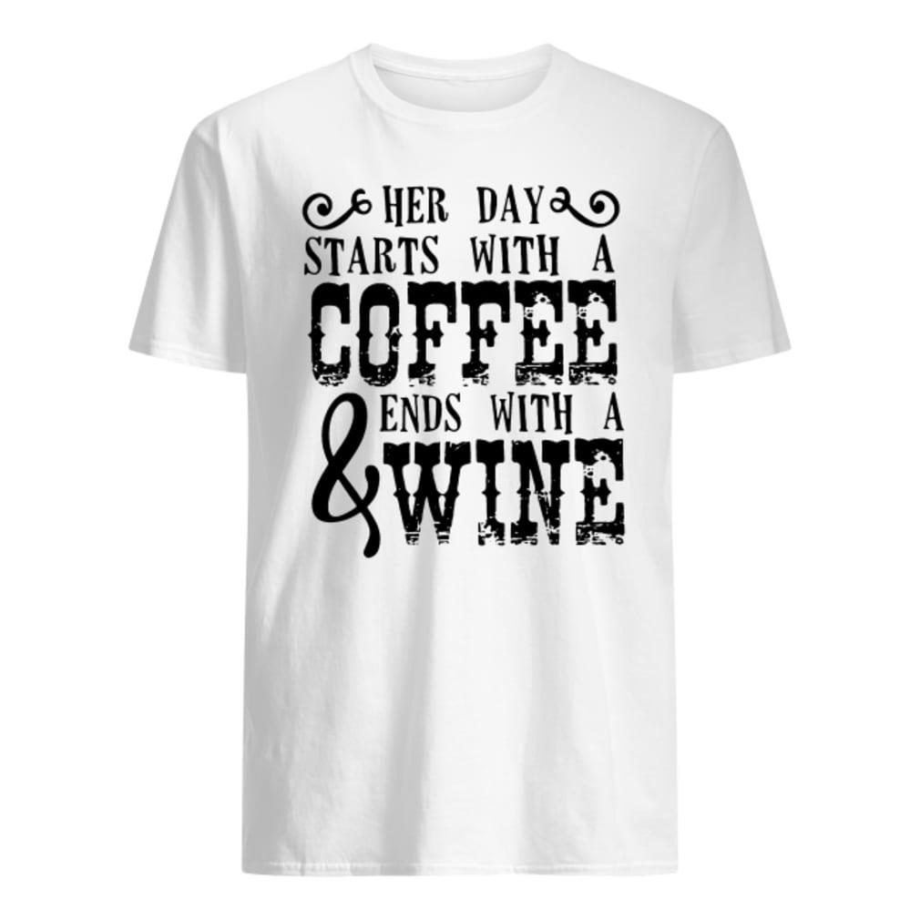 Her day starts with a coffee & ends with a wine shirt