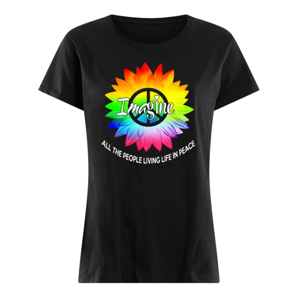 Image all the people living life in peace shirt ladies tee