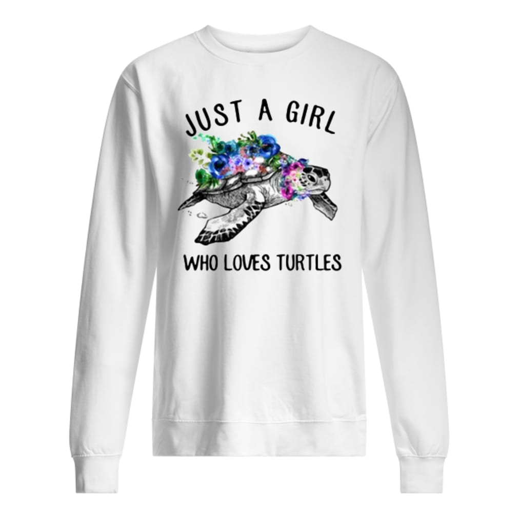 Just a girl who loves turtles shirt sweater