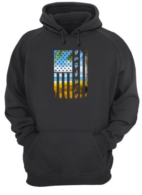 Landscape and hands American flag shirt hoodie