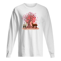 Couple dolly and love tree shirt long sleeved