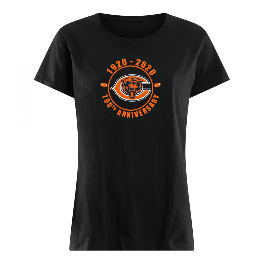 1920 2020 100th anniversary of Chicago Bears shirt ladies tee