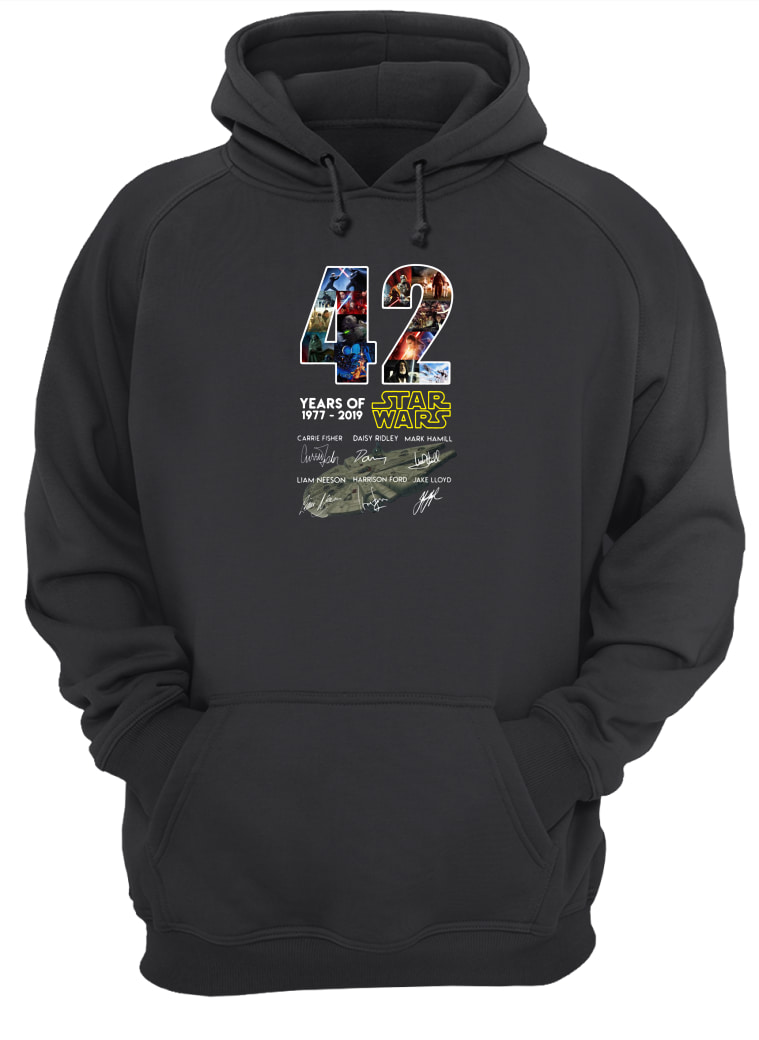 42 years of Star Wars 1977 2019 anniversary shirt hoodie