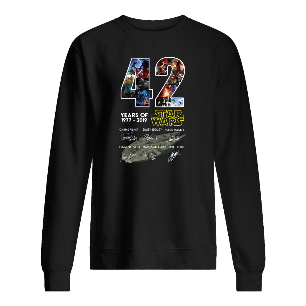 42 years of Star Wars 1977 2019 anniversary shirt sweater