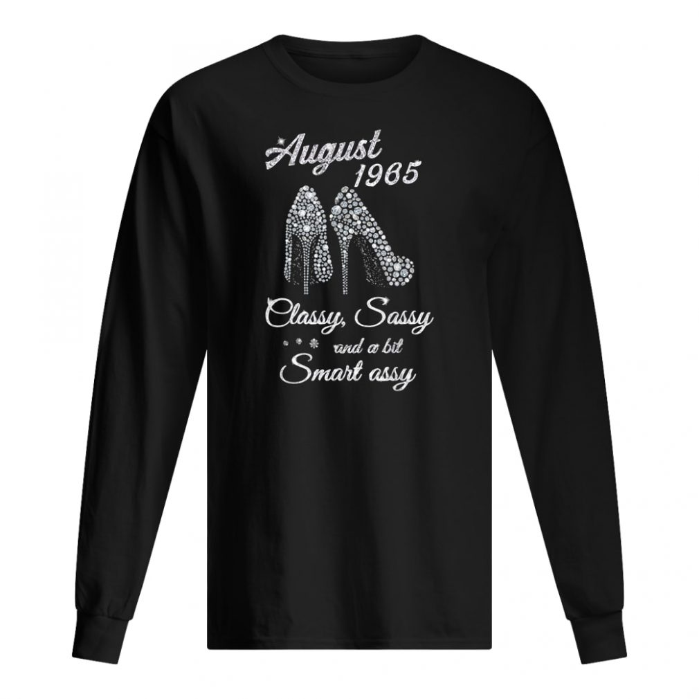 August 1965 classy and fabulous 54th birthday shirt long sleeved