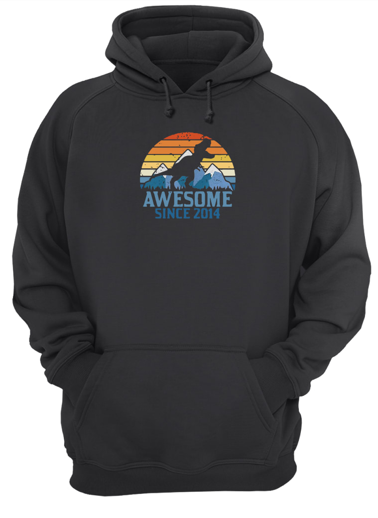 Dinosaur awesome since 2014 vintage shirt hoodie