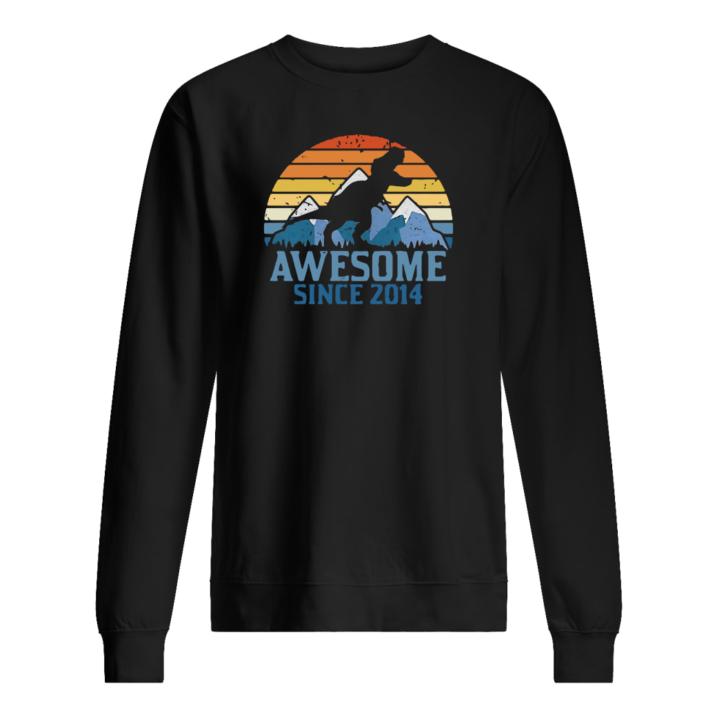 Dinosaur awesome since 2014 vintage shirt sweater