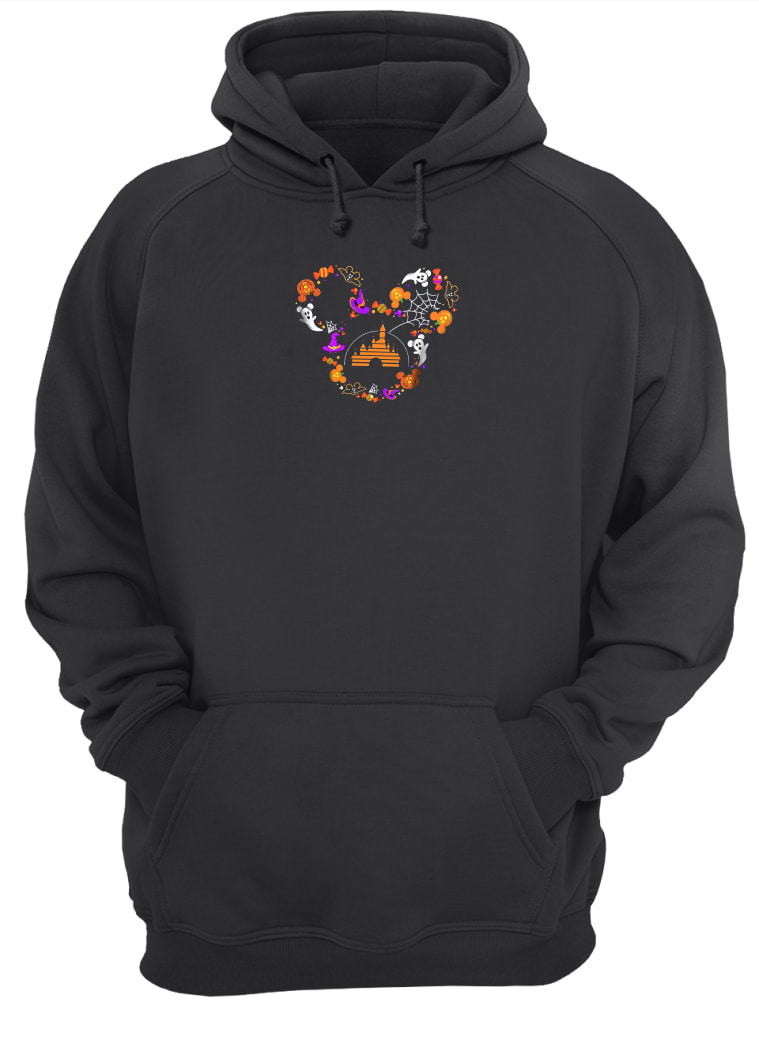 Halloween Mickey head shirt hoodie
