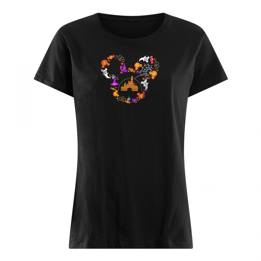 Halloween Mickey head shirt ladies tee