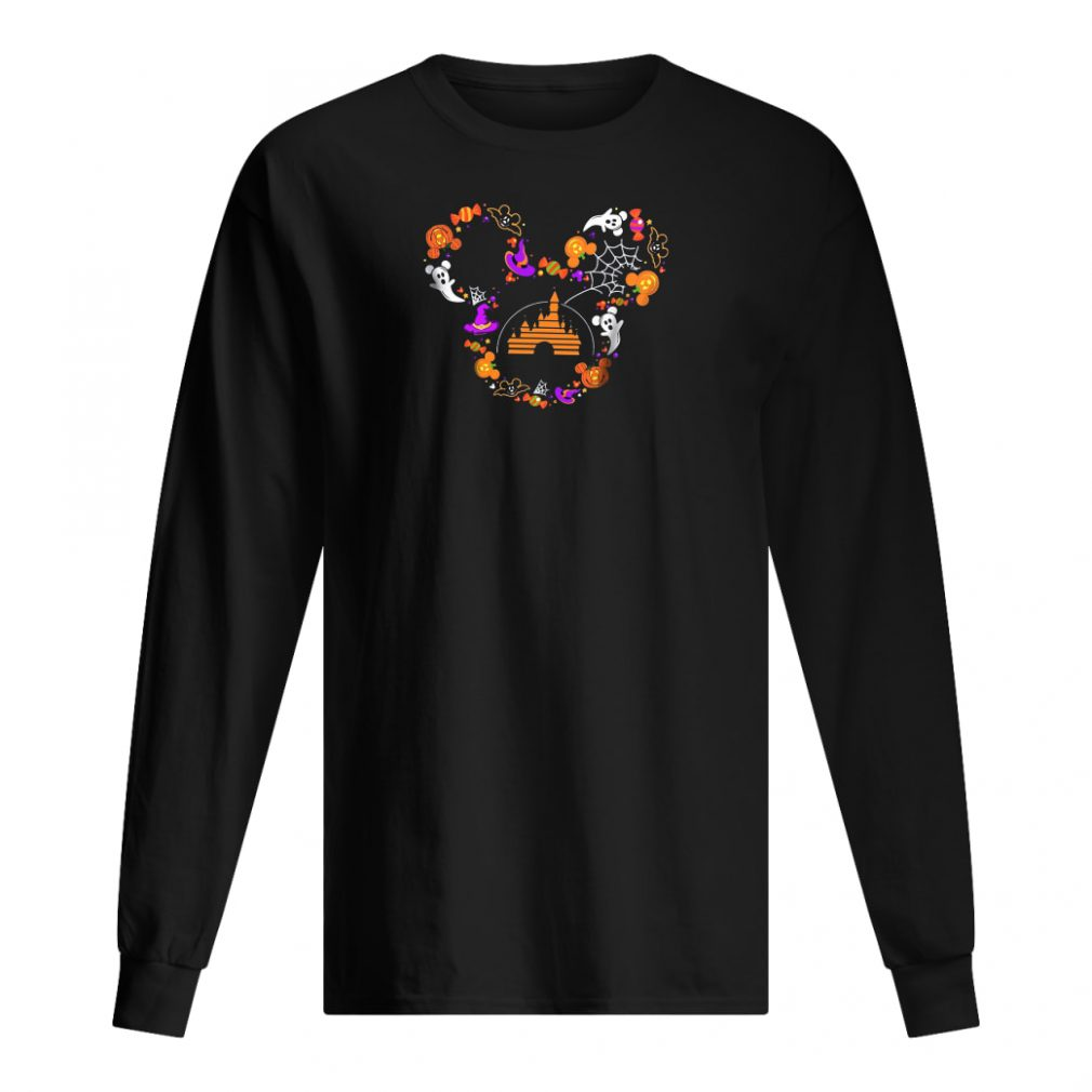 Halloween Mickey head shirt long sleeved
