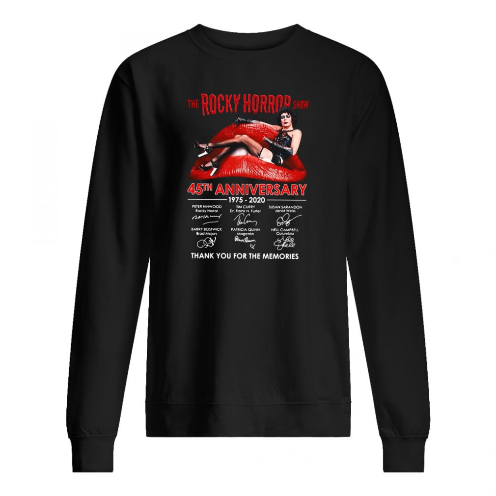 The Rocky Horror show 45th anniversary 1975 2020 shirt sweater