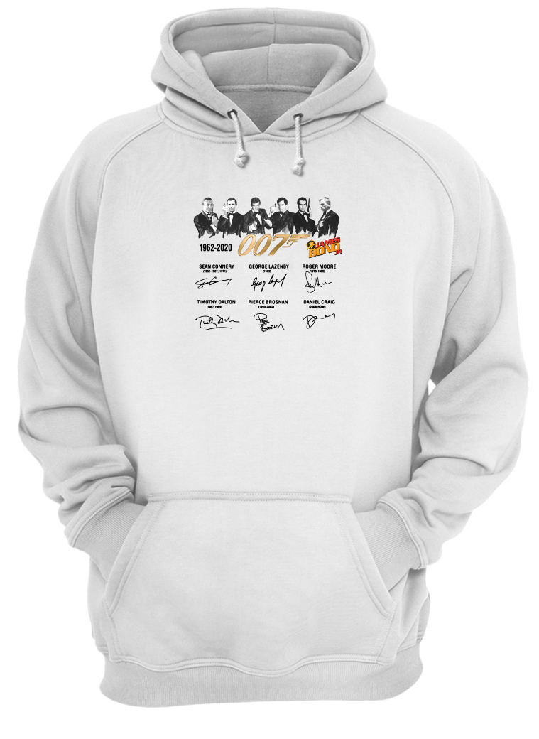 James Bond 007 1962 2020 signature shirt hoodie
