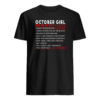 October girl facts shirt