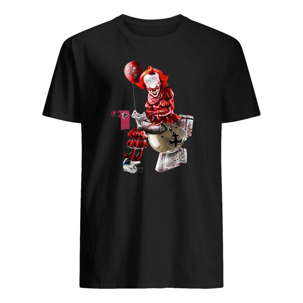 Pennywise NFL team football Tampa Bay Buccaneers New Orleans Saints toilet shirt