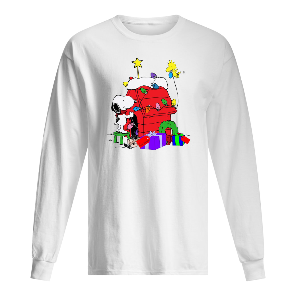 Snoopy decorations Woodstock's home shirt Long sleeved