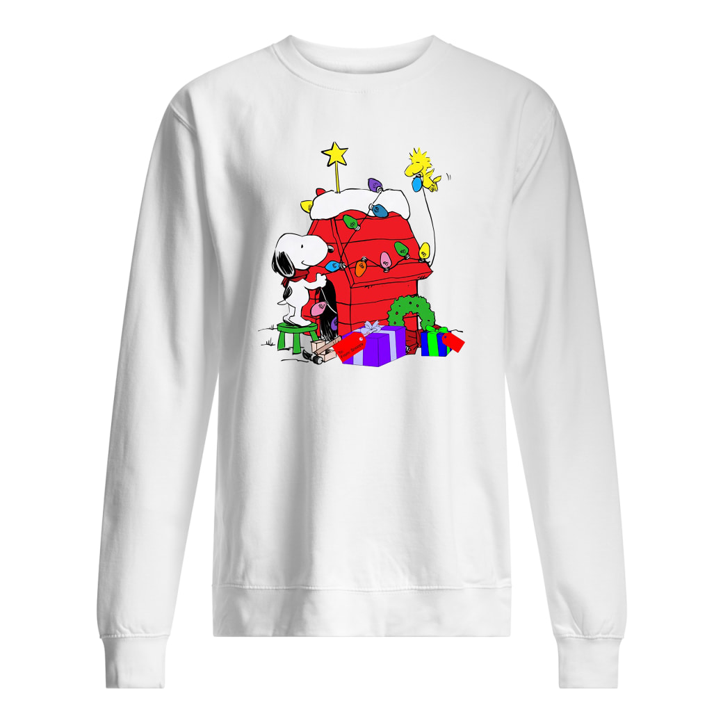 Snoopy decorations Woodstock's home shirt sweater