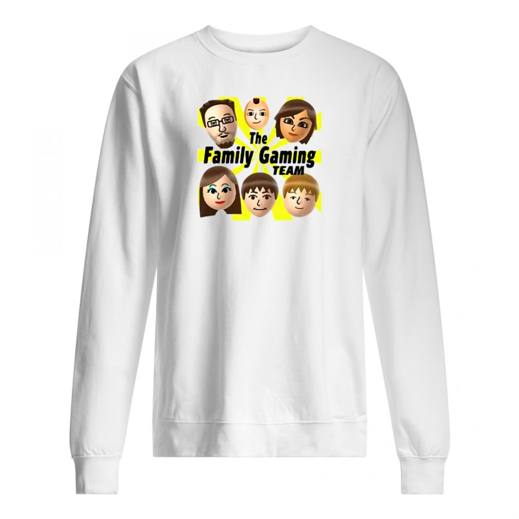 The family gaming team shirt sweater