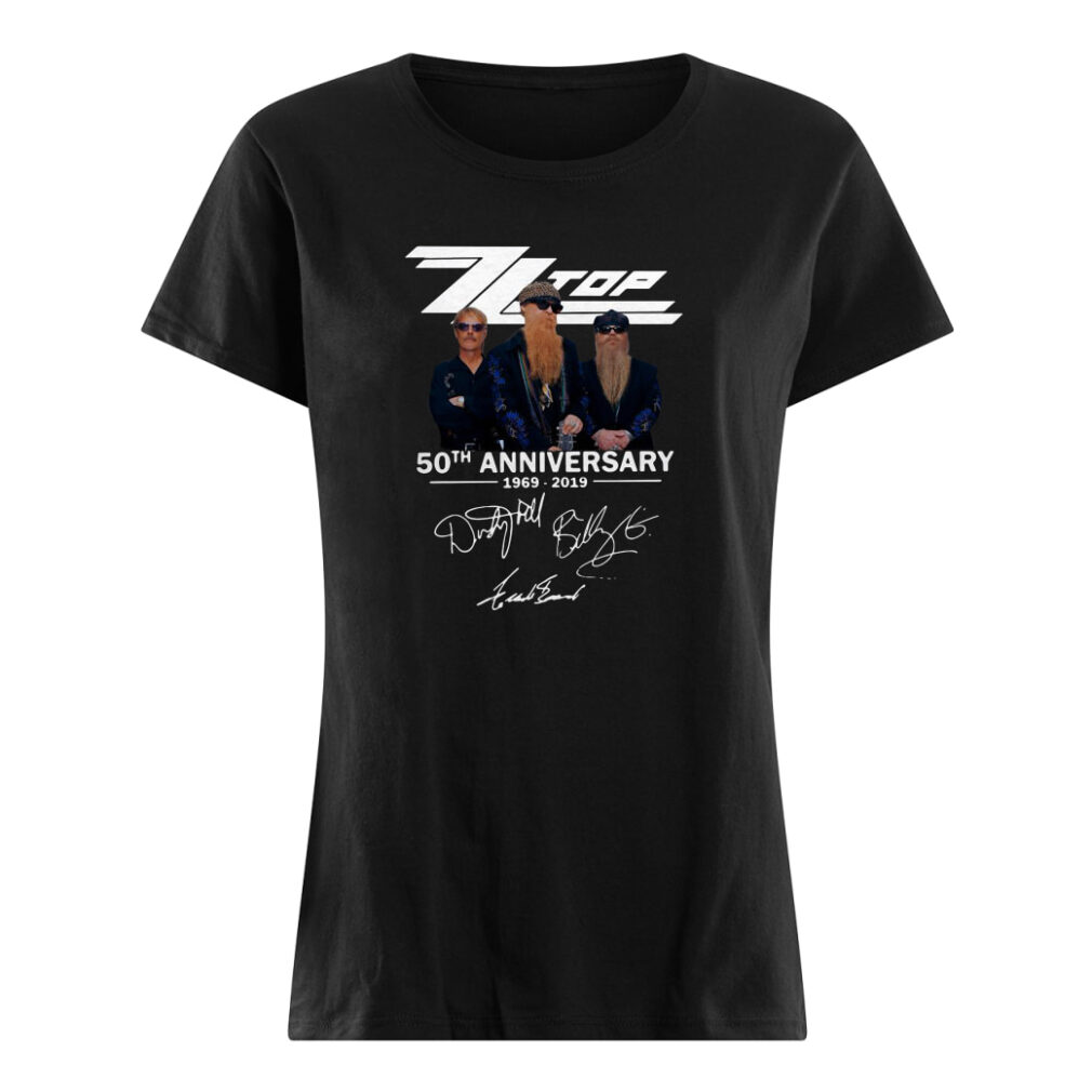 Zz Top 50th anniversary signature shirt ladies tee