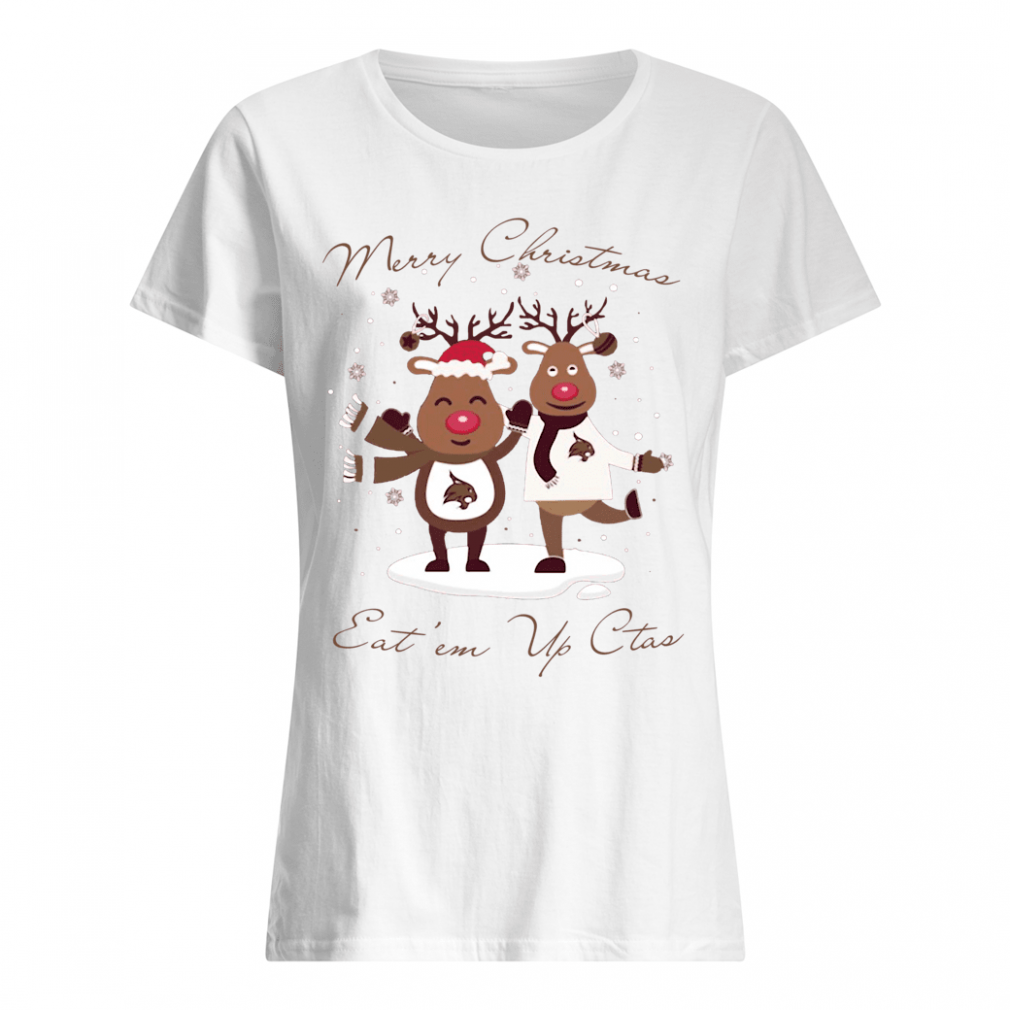 Merry Christmas eat an up cats shirt ladies tee