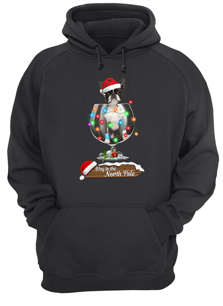 Way to the North Pole shirt hoodie