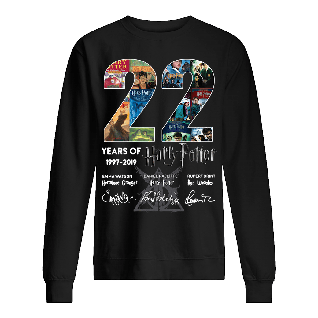 22 years of Harry Potter signatures shirt sweater