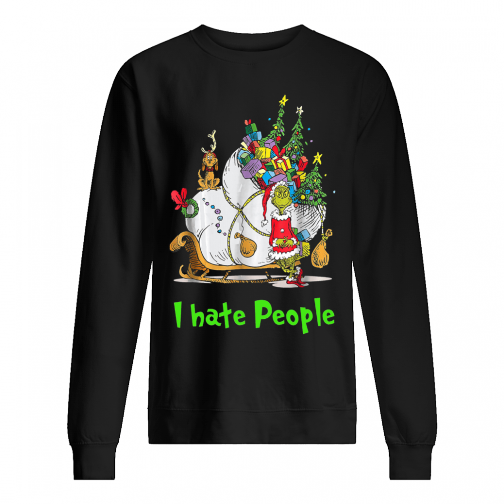Grinch Santa i hate people shirt sweater