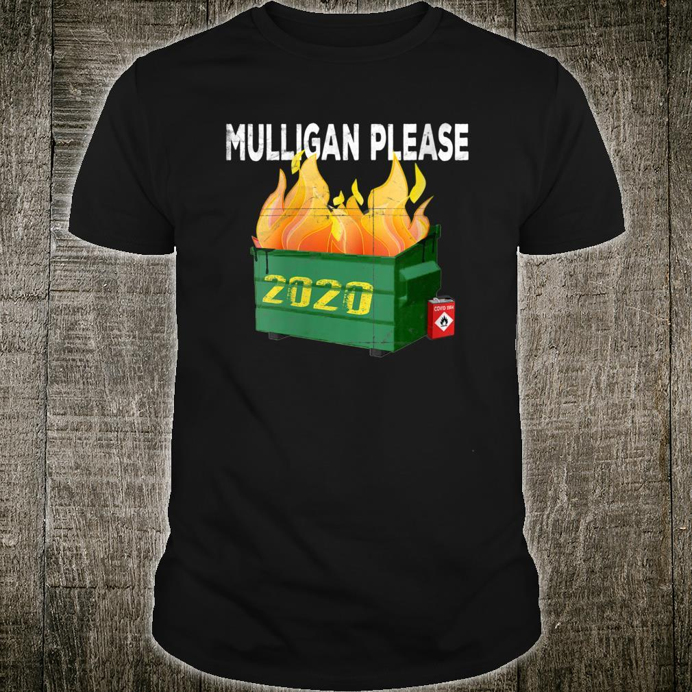 2020 Dumpster Fire Golfer Mulligan Do Over Shirt