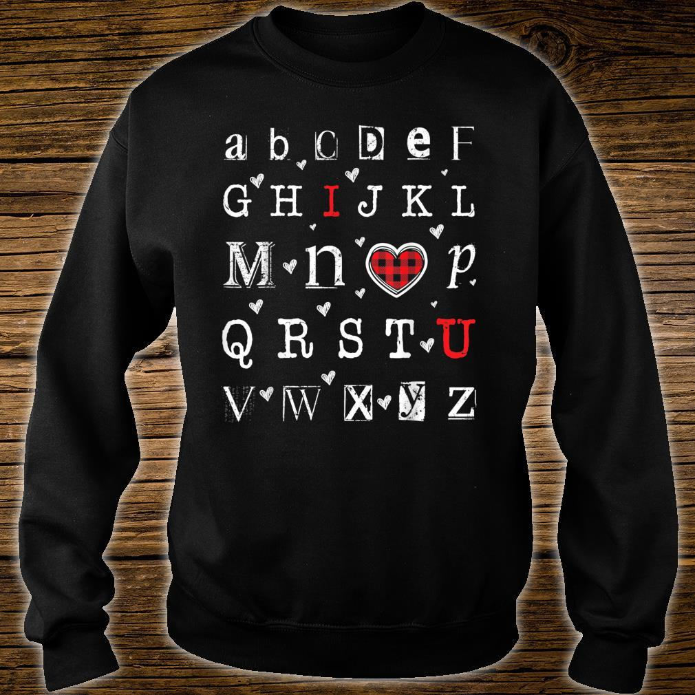 Abc Letters I Love You Hearts Happy Valentines Relationship Shirt sweater