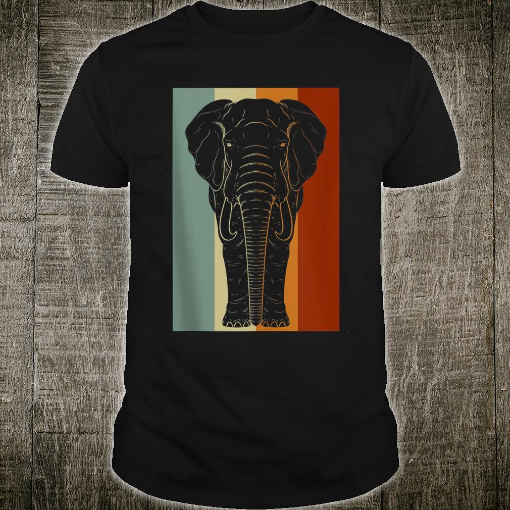 Africa Savanna Safari Zoo Animal Retro Elephant Shirt