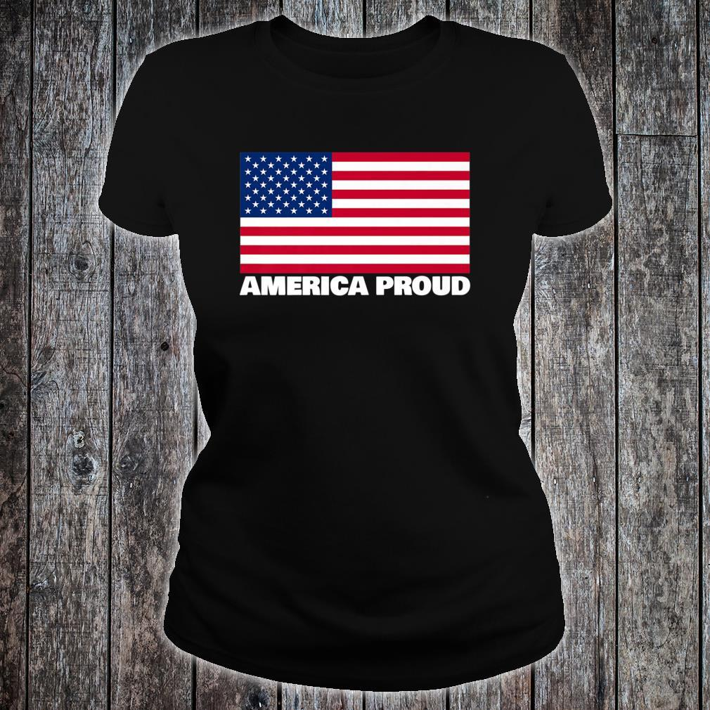 America Proud Bold Shirt ladies tee